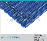 100平格网链 100突肋网链 100平格模块链